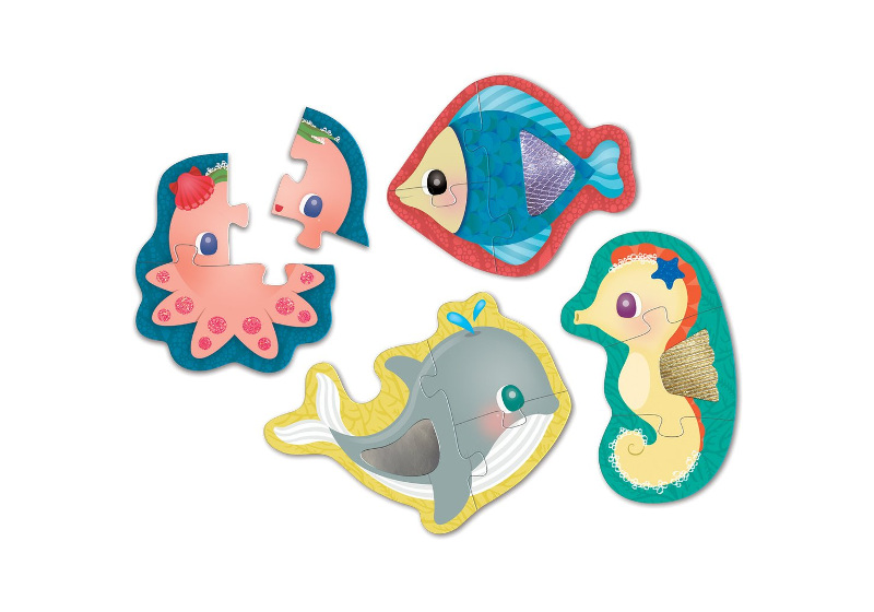 MUDPUPPY MY FIRST TOUCH AND FEEL PUZZLE - UNDER THE SEA