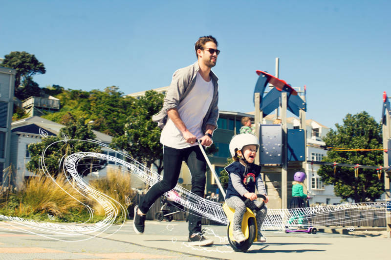 Go for a bike ride with Mountain Buggy Unirider