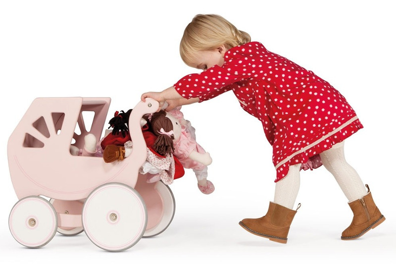 Silver Cross wooden dolls pram
