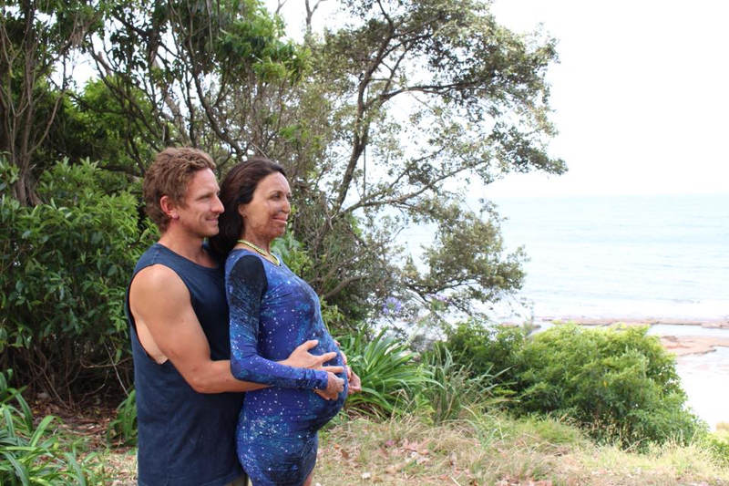Turia Pitt and Michael Hoskin baby boy