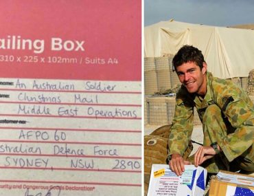 Christmas care package for Australian troops