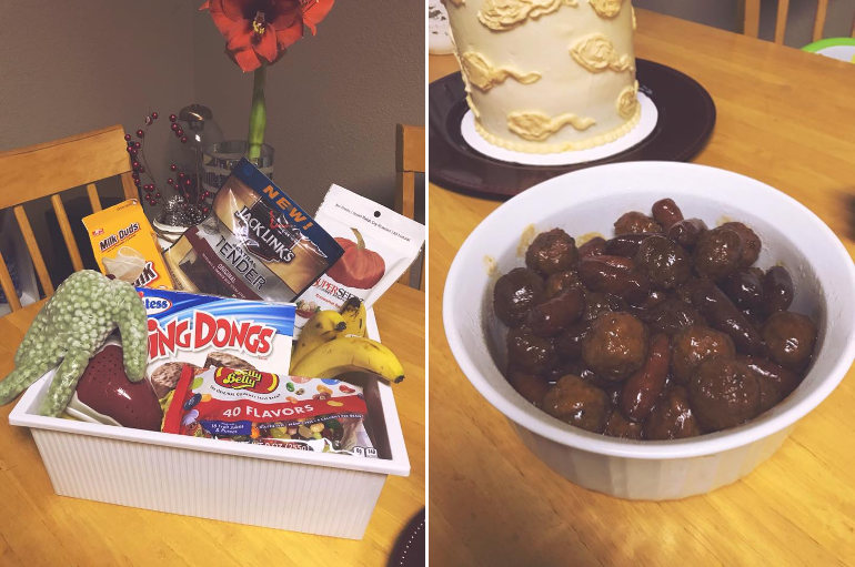 Balls voyage vasectomy party food