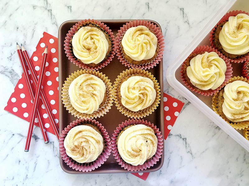 carrot cupcakes - easy lunch box treats