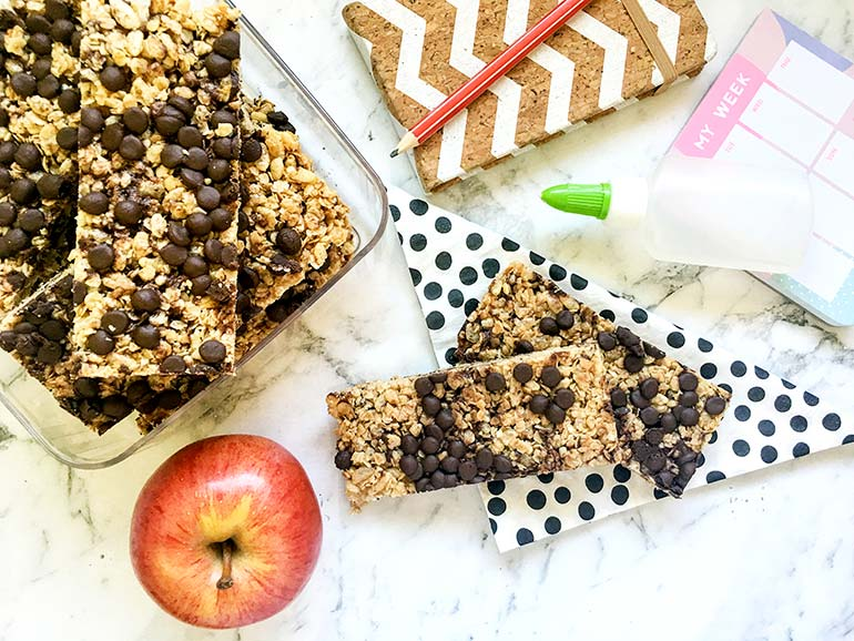 chocolate chip muesli bars recipe