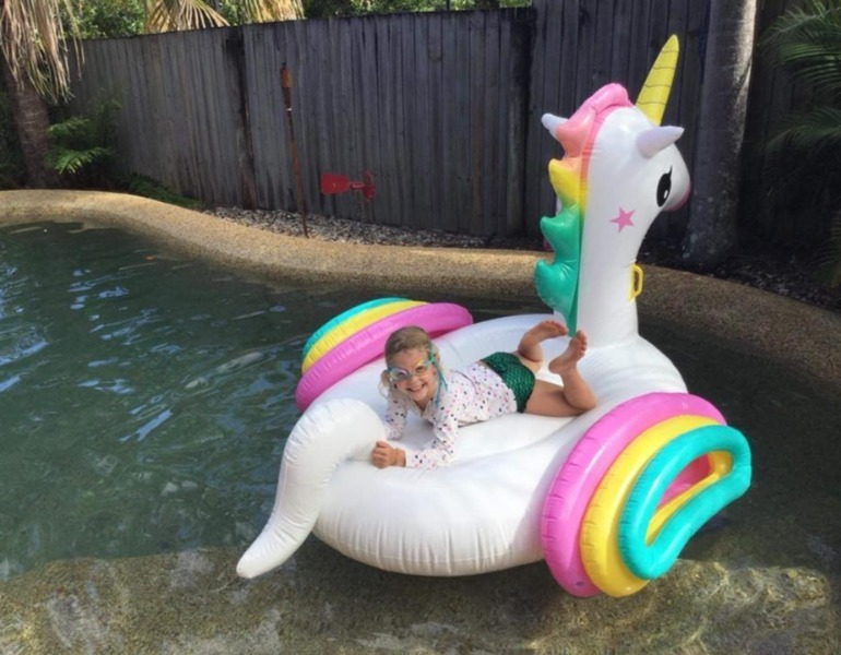 unicorn pool toy