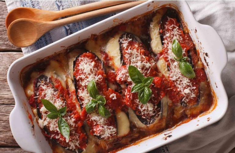 induce labour with eggplant bake