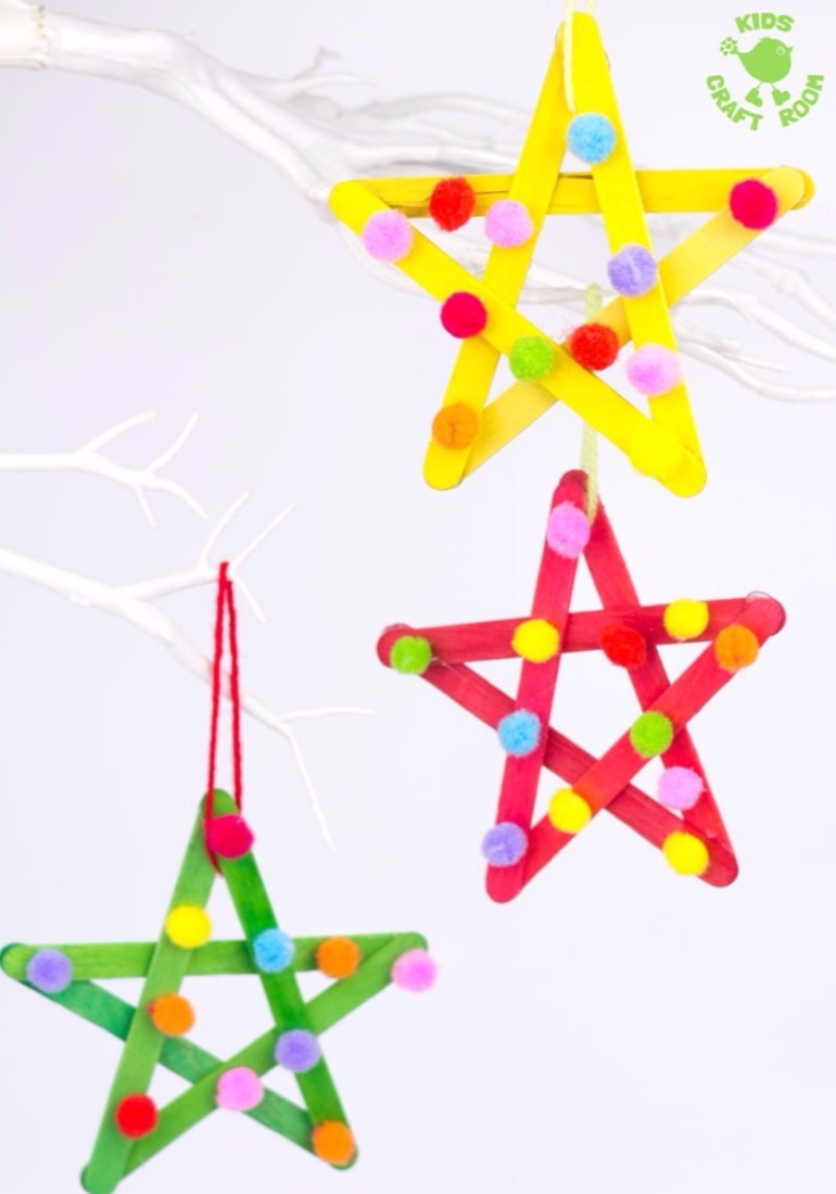 cute Christmas crafts 2017 stars