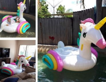 unicorn floatie christmas present