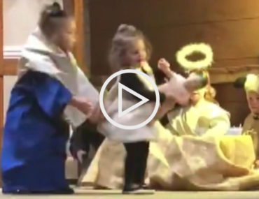 toddler steals baby Jesus