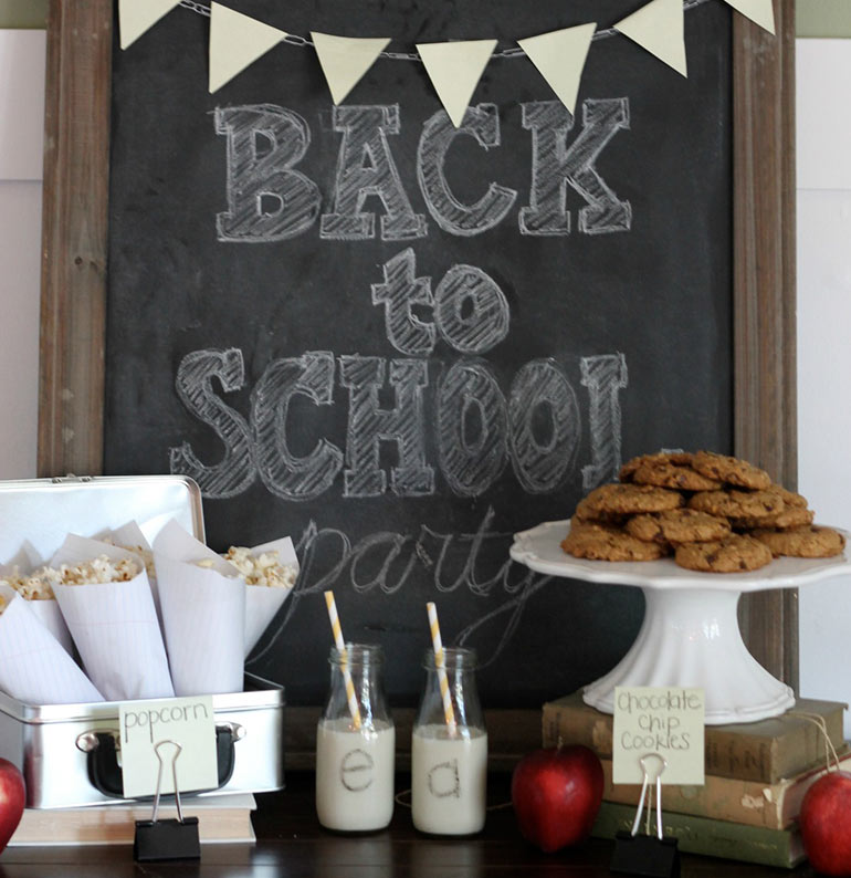 Back to School party idea from Parties for Pennies