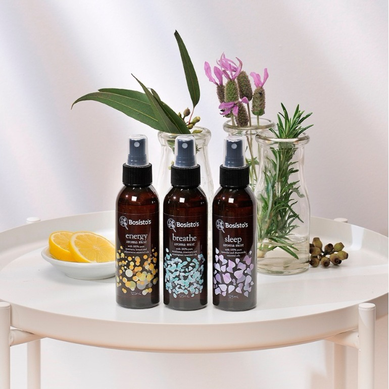 Bosisto's aroma mists collection