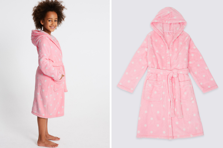 pink spot girl's dressing gown recall