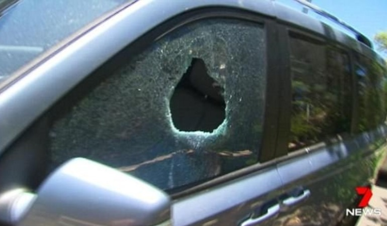 Police smash window after toddler locked in hot car