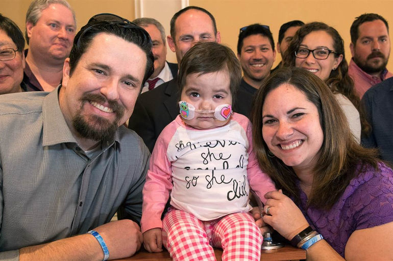 Toddler Given Slim Chance of Survival Meets 24 Donors Who Saved Her Life