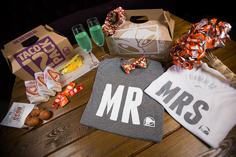Get married at Taco Bell wedding package
