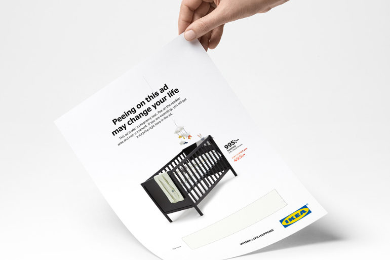 Ikea pregnant women pee advert
