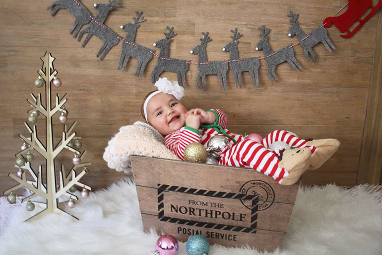 Kmart christmas north pole box photo shoot