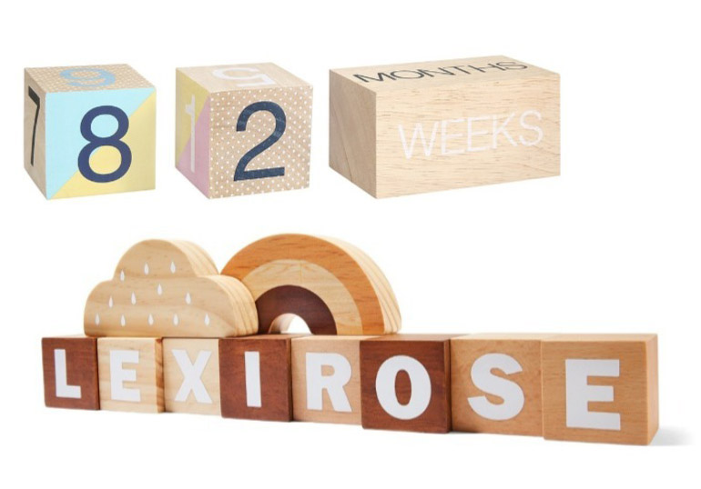 kmart baby shower gifts wooden name blocks