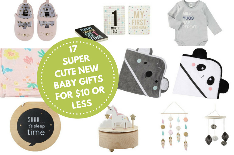 cute and affordable baby gift ideas for new baby or baby shower