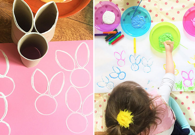easy Easter crafts, stamps