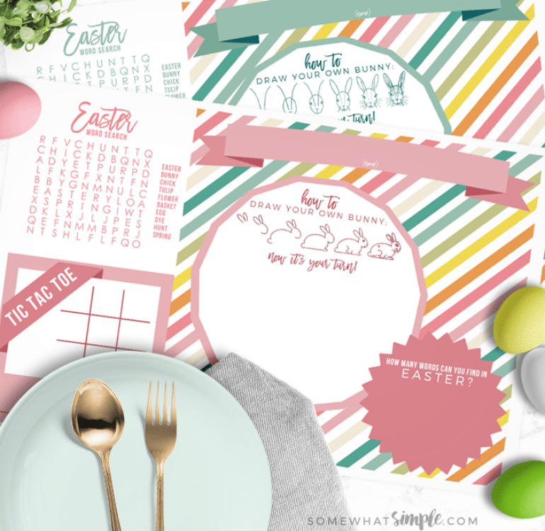 easter printables placemats