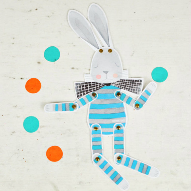 printable easter puppet