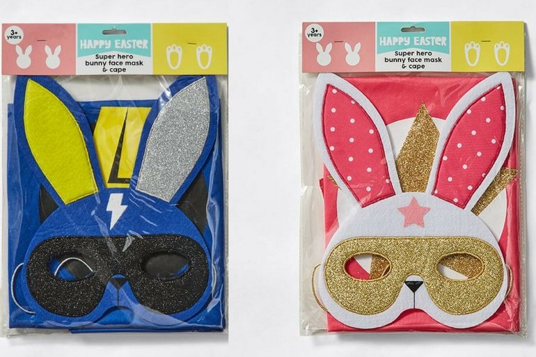 Easter bunny face mask
