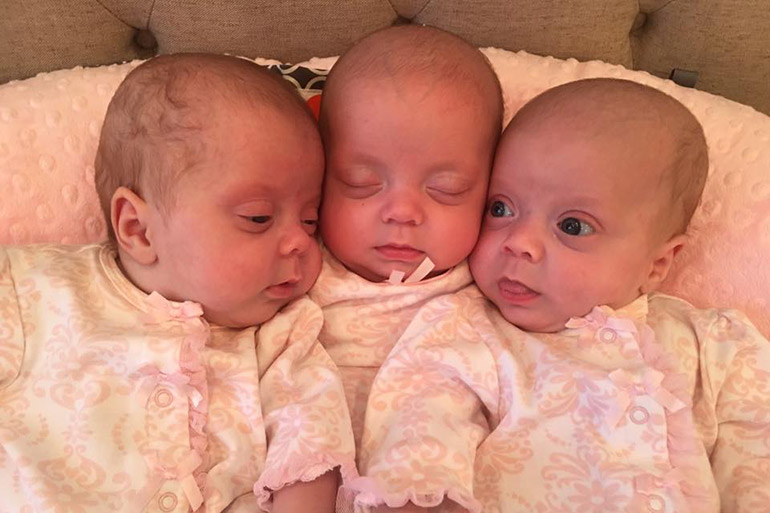 Waldrop sextuplets three months old