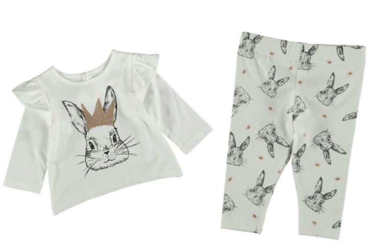 Best and Less Easter bunny baby outfit