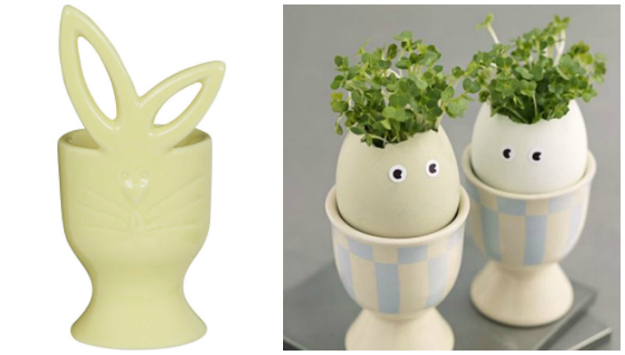 egg cup cress head