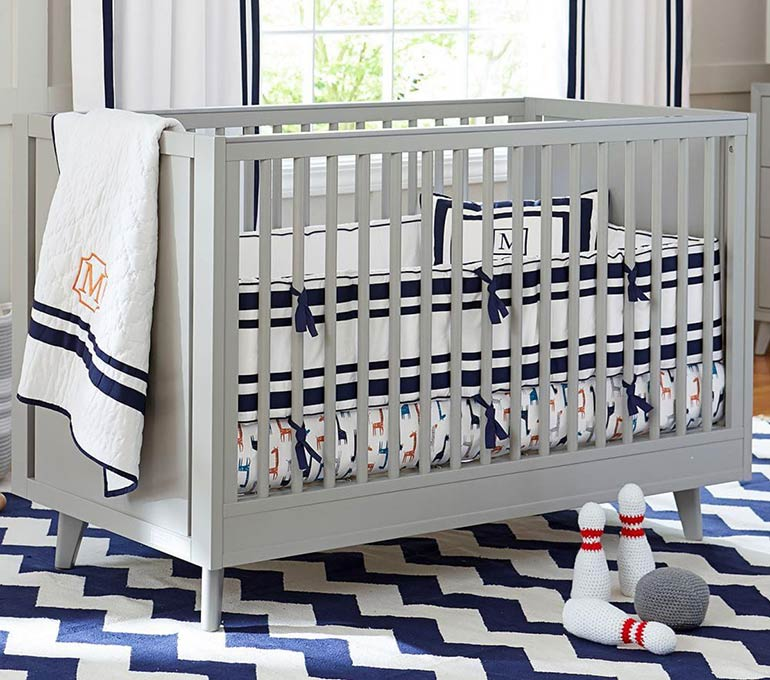 grey Pottery Barn cot