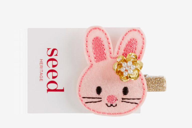 Seed bunny hair clip - cute Easter gifts for kids