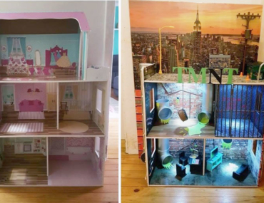 cool Kmart dollhouse hack for ninja turtles