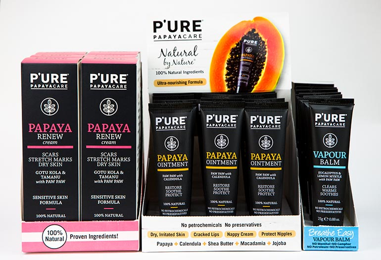 Pure Papayacare Papaya Ointment Range