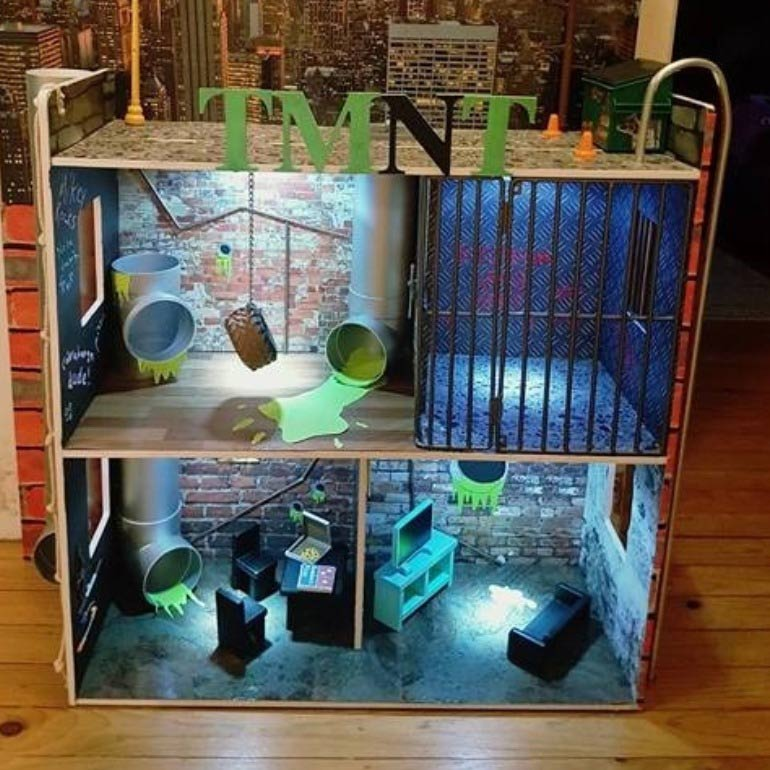 dollhouse hack into teenage mutant ninja turtle lair