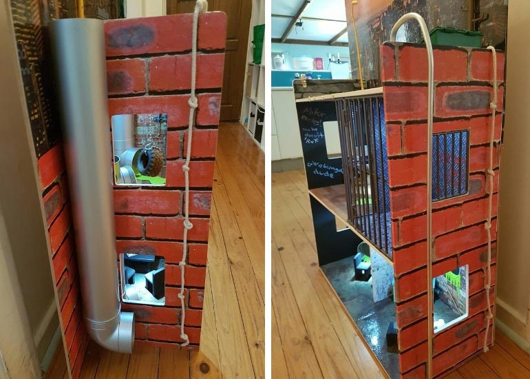 Kmart dollhouse hack into teenage mutant ninja turtle lair