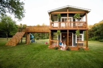 dad designs epic cubby house for his daughters