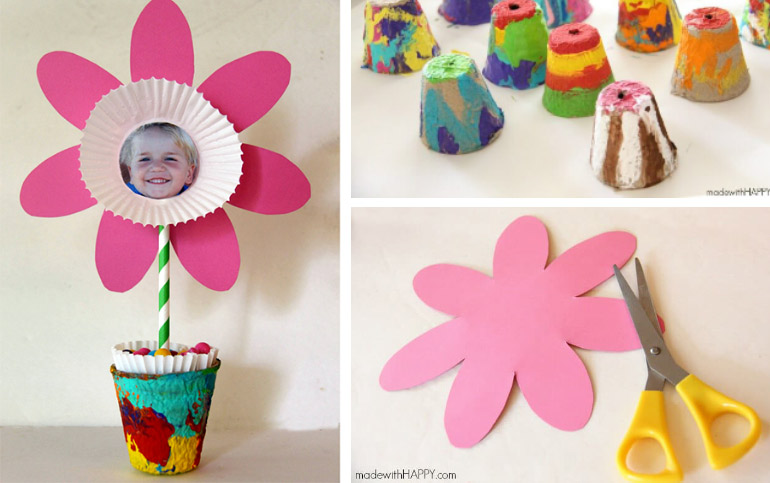 esy Mother's day crafts for kids to make - photo flowers