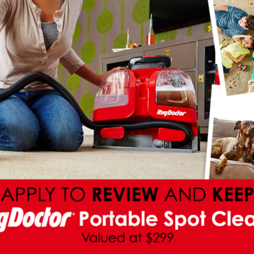 APPLY TO REVIEW: The Rug Doctor Portable Spot Cleaner That Fixes Family Messes