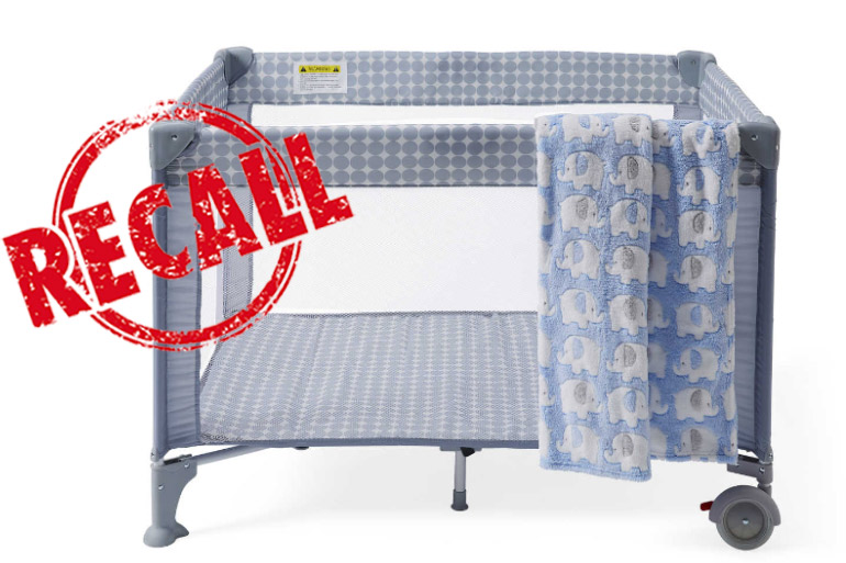 product recall big w dymples portacot recalled because it