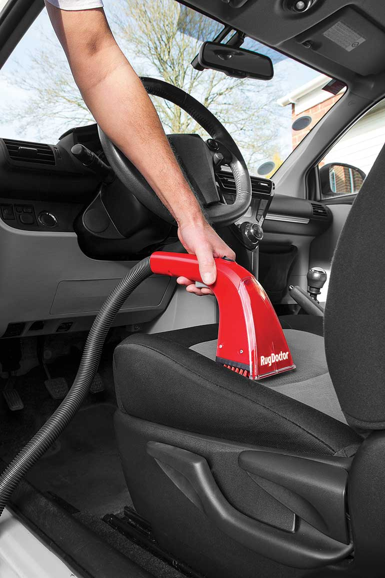 rug doctor portable spot cleaner cleans car upholstery