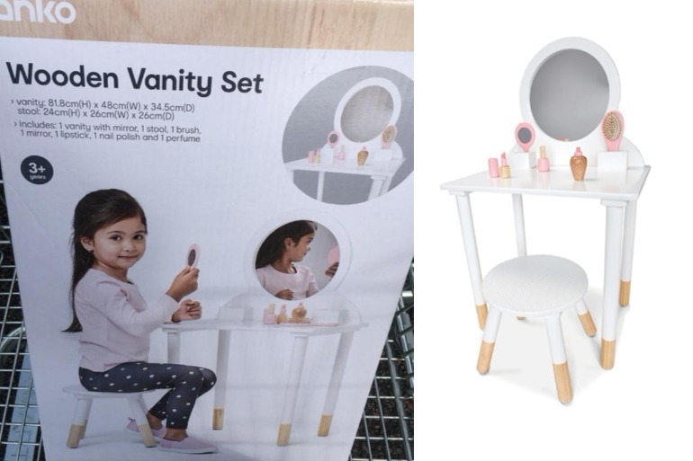 Kmart Wooden Vanity Set The Latest Kmart Toy Breaking The