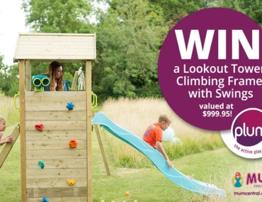 Plum Play Lookout Tower Climbing Frame with Swings