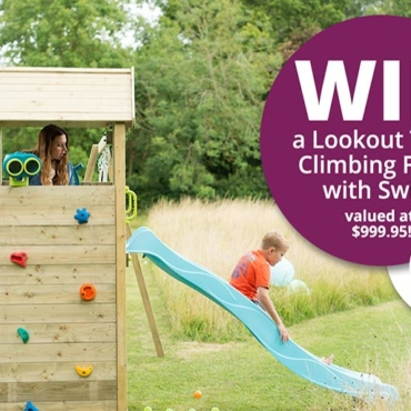 WIN: Inspire Epic Adventures With Plum Play's Lookout Tower Climbing Frame with Swings