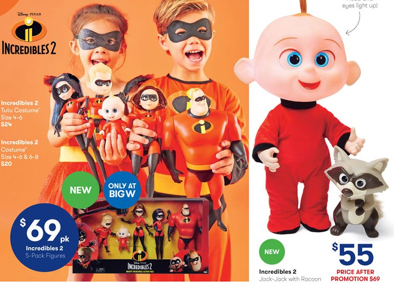 big w toy mania sale 2018 incredibles 2