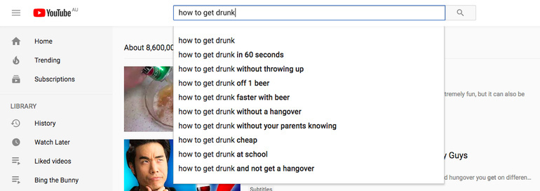 alcohol and the Internet