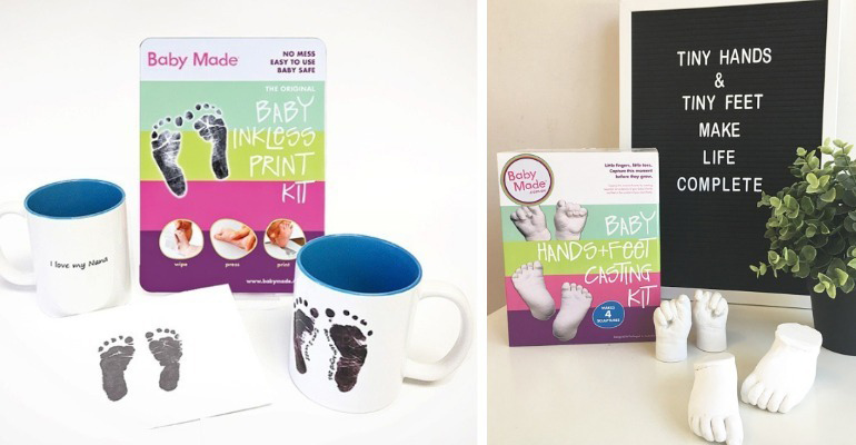 Boko baby footprint and casting kit gift giveaway