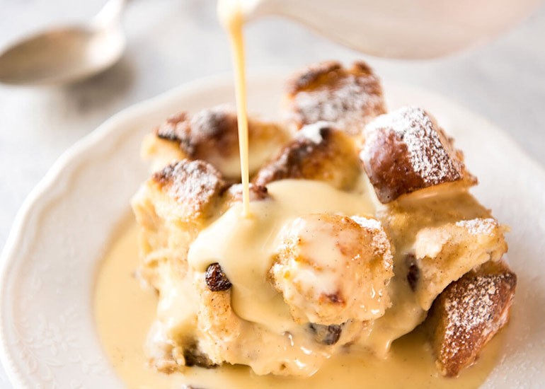 what to  do with leftover bread - bred and butter pudding