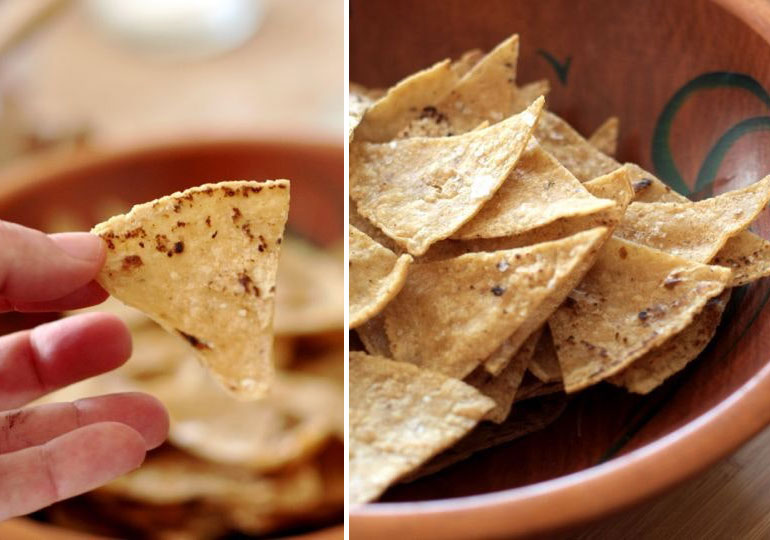 Movie snacks tortilla chips