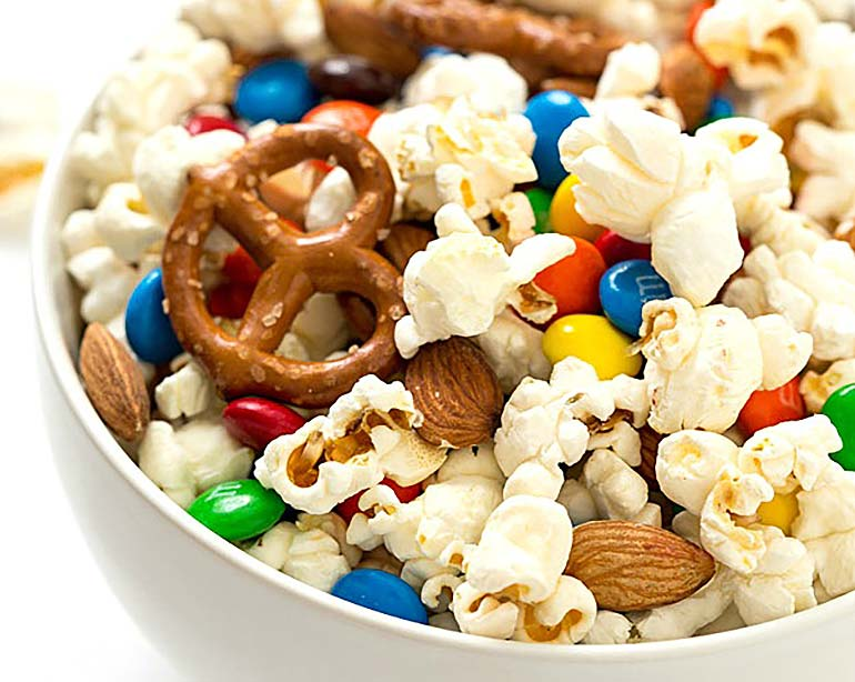 movie snacks popcorn mix
